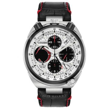 Citizen Eco-Drive Promaster Tsuno Chronograph Racer Leather Two-Tone 45mm Men's Watch
