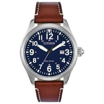 Citizen Eco-Drive Garrison Leather Men's Watch