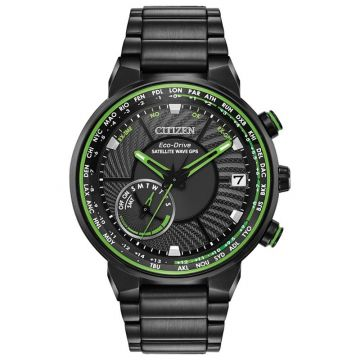 Citizen Eco-Drive Satellite Wave GPS Freedom Stainless Steel Black 44mm Men's Watch