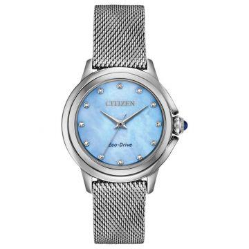 Citizen Eco-Drive Ceci Stainless Steel Women's Diamond Watch
