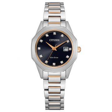 Citizen Eco-Drive Corso Stainless Steel Women's Diamond Watch
