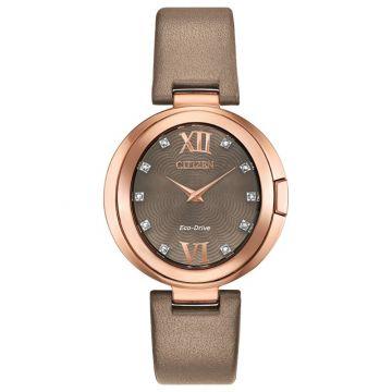 Citizen Eco-Drive Capella Leather Women's Diamond Watch