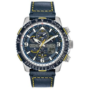 Citizen Eco-Drive Promaster Skyhawk Atomic Time Leather Two-Tone 46mm Men's Watch