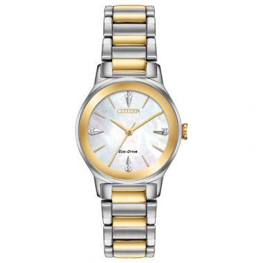 Citizen Eco-Drive Axiom Stainless Steel Women's Diamond Watch