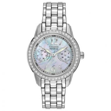 Citizen Eco-Drive Silhouette Crystal Stainless Steel Silver-Tone 32mm Women's Watch