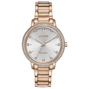 Citizen Eco-Drive Silhouette Crystal Stainless Steel Women's Watch